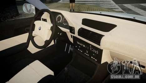 BMW M5 (E34) 1995 v1.0 para GTA 4 vista superior