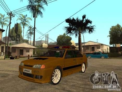 VAZ 2115 polícia carro Tuning para GTA San Andreas