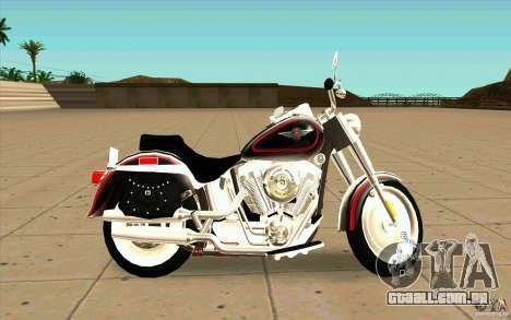 Harley Davidson FatBoy (Terminator 2) para GTA San Andreas esquerda vista
