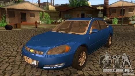 Chevrolet Impala para GTA San Andreas