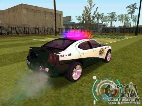Dodge Charger Policia Civil from Fast Five para GTA San Andreas traseira esquerda vista