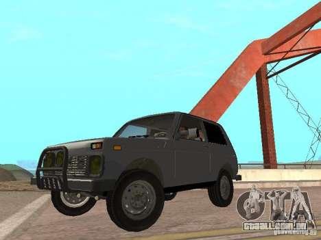 VAZ 21214 Niva para GTA San Andreas traseira esquerda vista