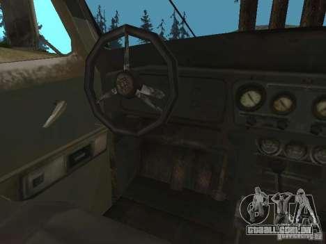 UAZ-31519 do COD MW2 para GTA San Andreas vista traseira
