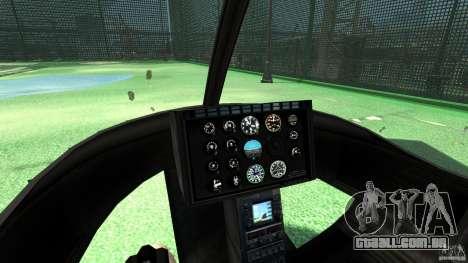 Black U.S. ARMY Helicopter v0.2 para GTA 4 vista de volta