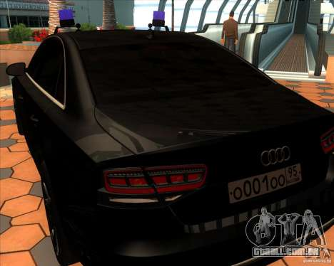 Audi A8 2010 v2.0 para GTA San Andreas vista direita