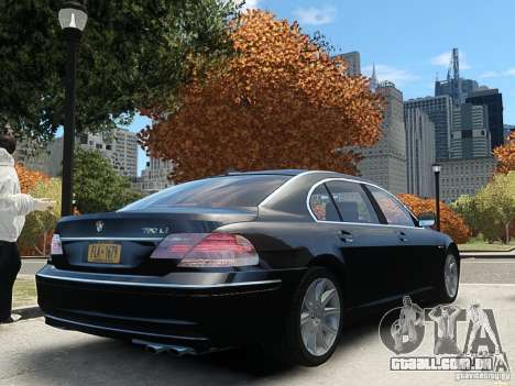 BMW 7 Series E66 2011 para GTA 4 esquerda vista