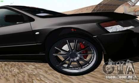 Mitsubishi Lancer EVO VIII BlackDevil para GTA San Andreas vista superior