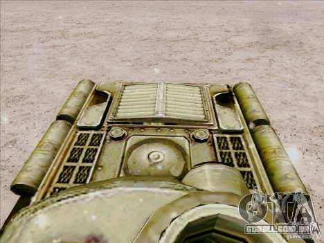 T-34 para GTA San Andreas vista traseira