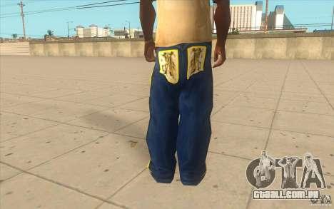 Karl Kan Puzzle Jeans para GTA San Andreas terceira tela