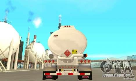Peterbilt 379 Custom And Tanker Trailer para GTA San Andreas vista superior