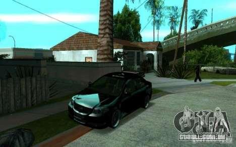 Toyota Vios para GTA San Andreas vista traseira