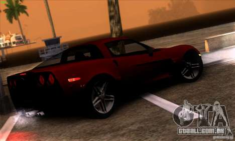 Chevrolet Corvette Z06 para GTA San Andreas vista interior