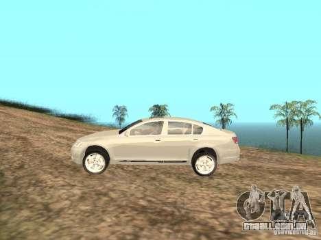 Lexus GS-350 para GTA San Andreas esquerda vista