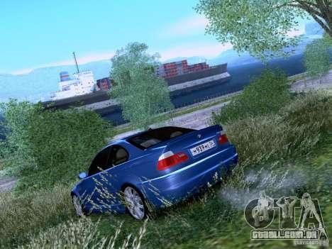 BMW M3 E46 para GTA San Andreas traseira esquerda vista