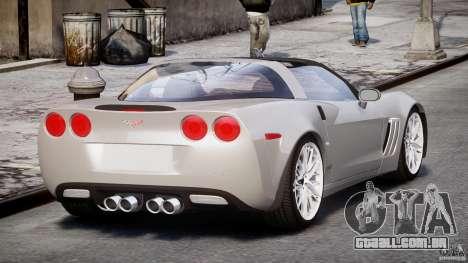 Chevrolet Corvette Grand Sport 2010 v2.0 para GTA 4 vista lateral