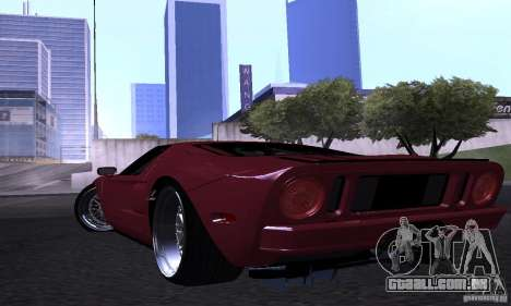 Ford GT 2005 para GTA San Andreas vista superior