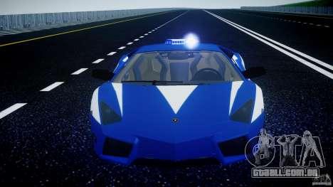 Lamborghini Reventon Polizia Italiana para GTA 4 motor