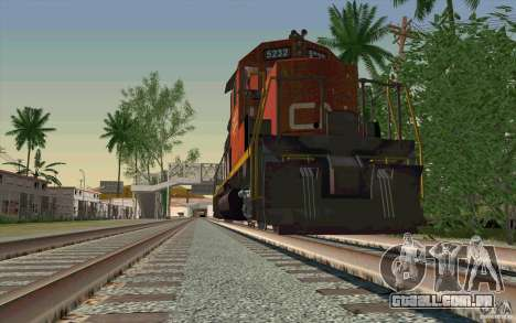 CN SD40 ZEBRA STRIPES para GTA San Andreas vista superior