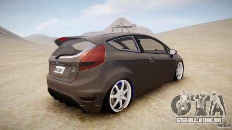 Ford Fiesta 2012 para GTA 4 traseira esquerda vista
