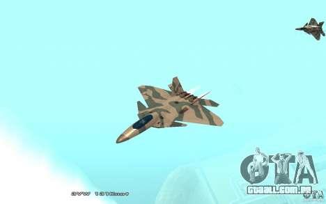 F/A-22 Velociraptor para GTA San Andreas esquerda vista