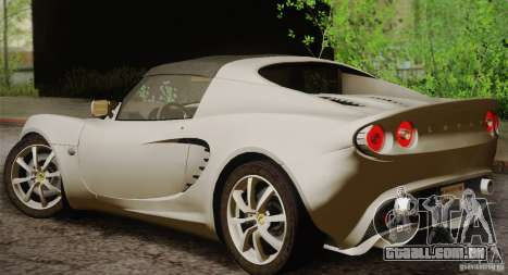 Lotus Elise 111s 2005 v1.0 para GTA San Andreas vista direita