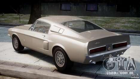 Shelby GT500 1967 para GTA 4 traseira esquerda vista