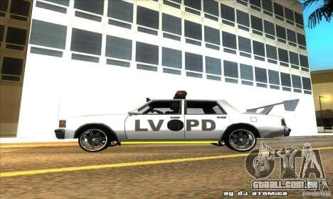 Police Hero v2.1 para GTA San Andreas esquerda vista