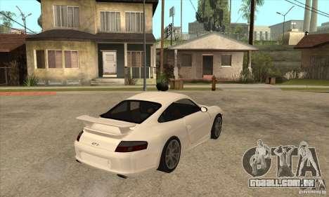 Porsche 911 GT3 (996) para GTA San Andreas vista direita