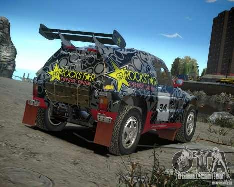 Mitsubishi Pajero Proto Dakar EK86 vinil 1 para GTA 4 vista direita