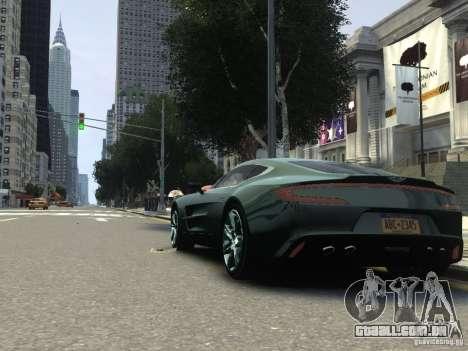 Aston Martin One 77 2012 para GTA 4 vista direita