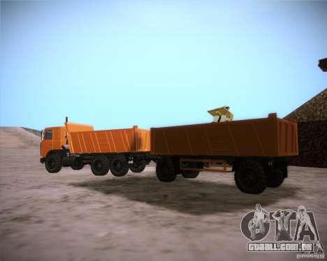 Reboque para MAZ 6317 para GTA San Andreas