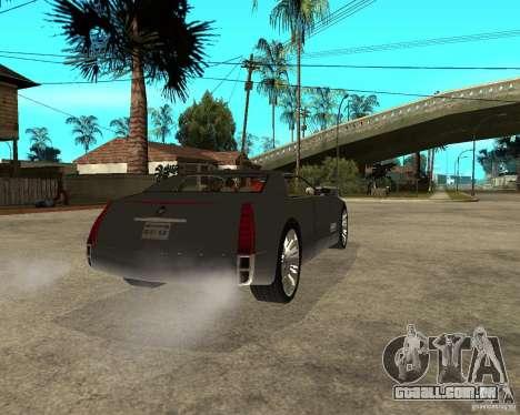 Cadillac Sixteen para GTA San Andreas traseira esquerda vista