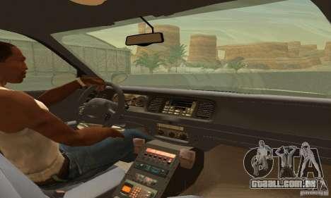 Ford Crown Victoria Rhode Island Police para GTA San Andreas traseira esquerda vista