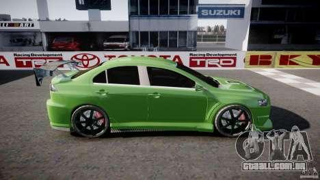 Mitsubishi Lancer Evolution X Tuning para GTA 4 esquerda vista