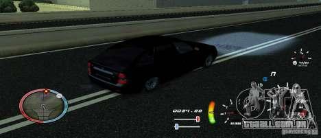 Um velocímetro original para GTA San Andreas terceira tela