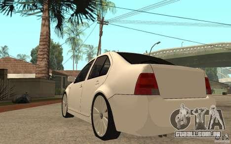 Volkswagen Bora PepeUz Edition para GTA San Andreas traseira esquerda vista