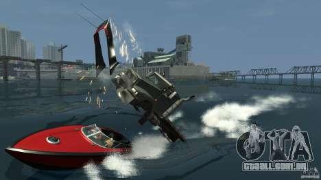 Biff boat para GTA 4 vista de volta