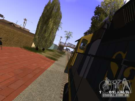 SD 40 UP BN Santa Fe para GTA San Andreas vista direita