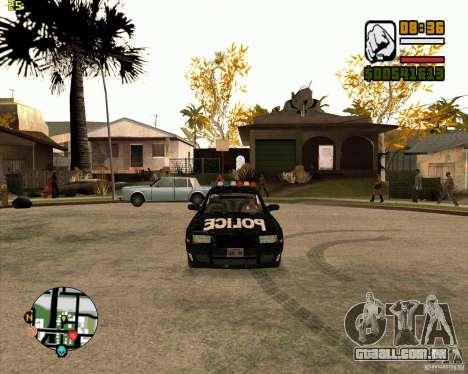 Carro de polícia de NFS: MW para GTA San Andreas esquerda vista
