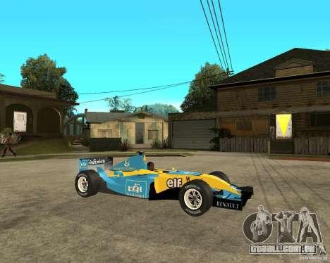 Renault F1 para GTA San Andreas vista direita