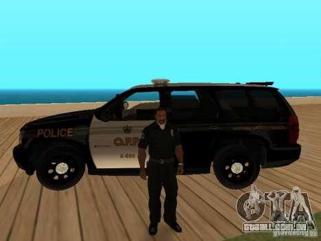 Chevrolet Tahoe Ontario Highway Police para GTA San Andreas vista interior