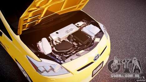 Toyota Prius NYC Taxi 2011 para GTA 4 vista interior