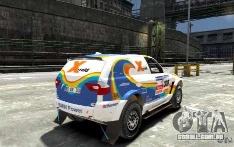 BMW X3 CC DAKAR para GTA 4 vista direita