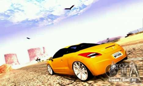 Peugeot Rcz 2011 para GTA San Andreas vista inferior