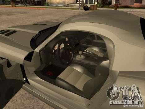 Dodge Viper Coupe 2008 para GTA San Andreas traseira esquerda vista