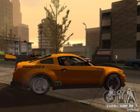 Ford Mustang GT-R 2010 para GTA San Andreas esquerda vista