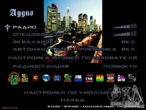 Novo menu no estilo de Los Angeles para GTA San Andreas por diante tela