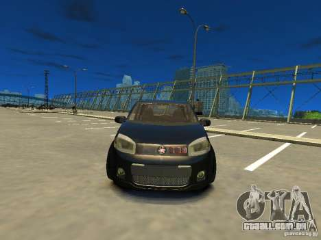 Fiat Novo Uno Sporting para GTA 4 vista de volta