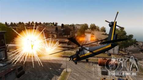 Um helicóptero com um RPG para GTA 4 traseira esquerda vista