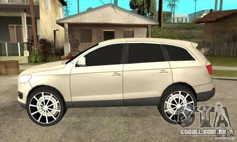 Audi Q7 v2.0 para GTA San Andreas esquerda vista